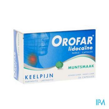 Orofar Lidocaine Parels Munt Zachte Caps 36