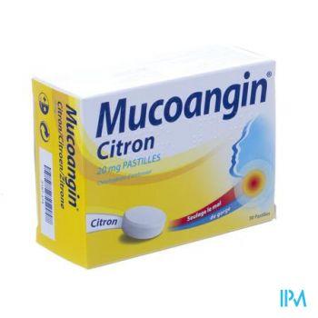 Mucoangin Citroen Zuigtabletten 30x20mg