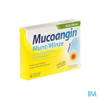 Mucoangin Munt Zuigtabletten 20x20mg