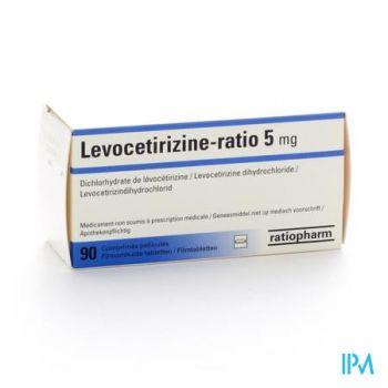 Levocetirizine Ratio 5mg Filmomh Tabl 90 X 5mg