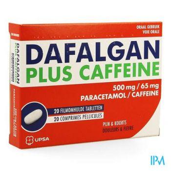 Dafalgan Plus Caffeine 500mg/65mg Filmomh Tabl 20
