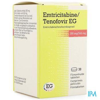 Emtricitabine Tenofov. Eg 200mg/245mg Film.tabl 30