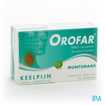 Orofar Menthe-munt Forte 36 Perles